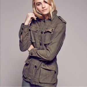 Free People Not Your Brother's Green Army Jacket